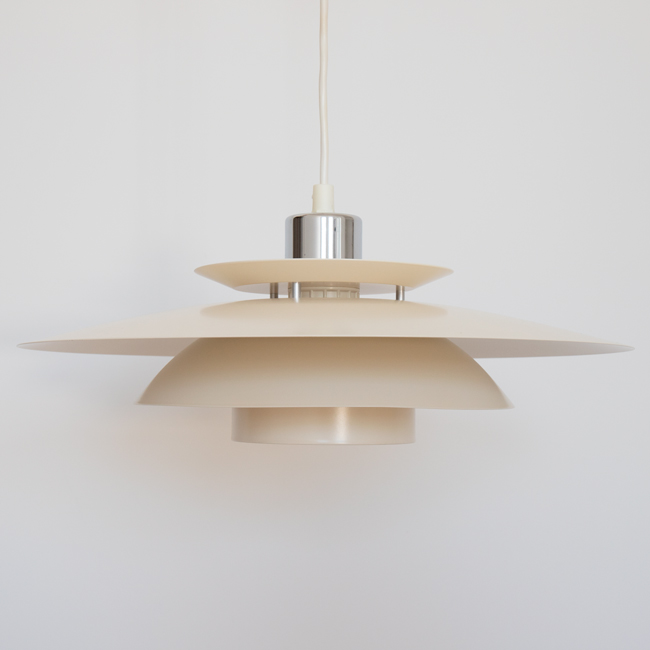 Classic vintage Danish midcentury modern layered pendant light