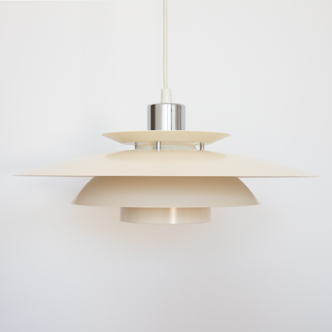Classic vintage Danish midcentury modern layered pendant light 2