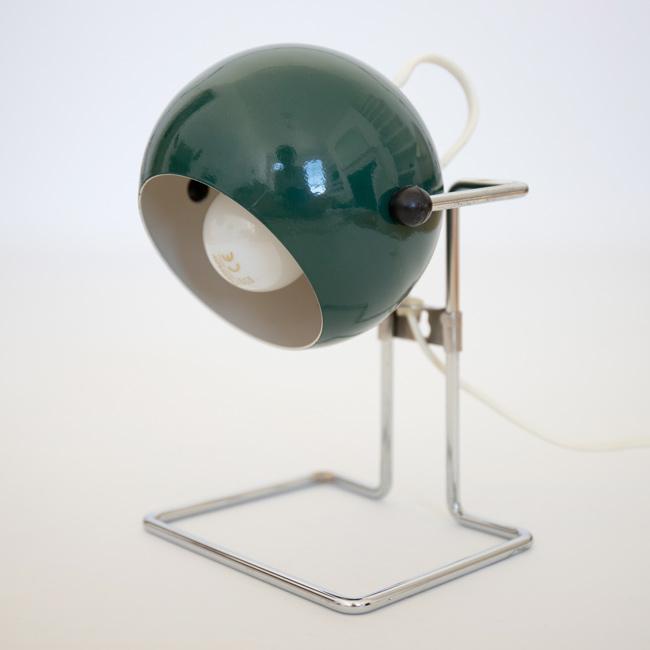 1970s Abo Randers Danish Stat pop art ball lamp in dark blueish green