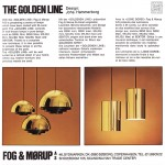 Golden Line 24-carat gold-plated Fog & Mørup Milieu by Jo HammerborgFog & Mørup