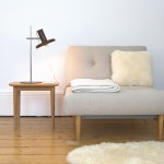 Optima brown table lamp by Hans Due for Fog & Mørup, early 70s