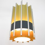 Danish modern hygge-style pendant light by Bent Karlby for Lyfa, 1960s