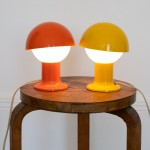 Mushroom lamps designed and made in the 1960s by Holm Sorensen