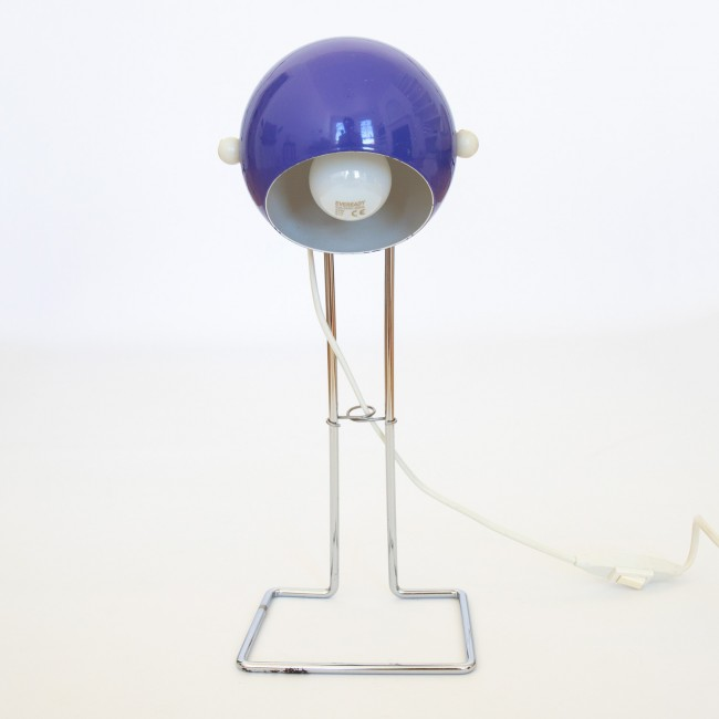 1970s Abo Randers Danish tall Stat pop art ball lamp in purple