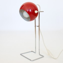 1970s Abo Randers Danish tall Stat pop art ball lamp in red