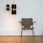 Vesuv pendant light pair by Jo Hammerborg for Fog & Mørup, 1960s