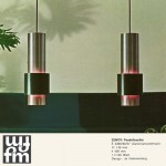 Danish modern Zenith pendant light by Jo Hammerborg for Fog & Mørup