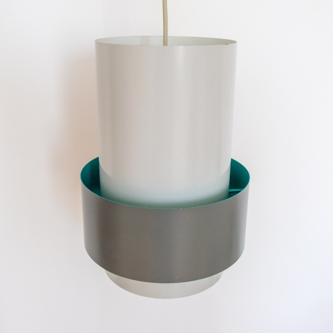Central industrial pendant light by Jo Hammerborg for Fog & Mørup, 1967