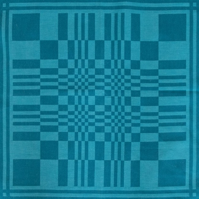 Psychedelic op-art Vasarely-style warping chequerboard design textile 1960s