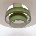Green Falcon pendant light by Andreas Hansen for Fog & Morup, 1960s