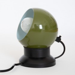 Green space-age ball lamp by ES Horn Belysning A/S of Denmark
