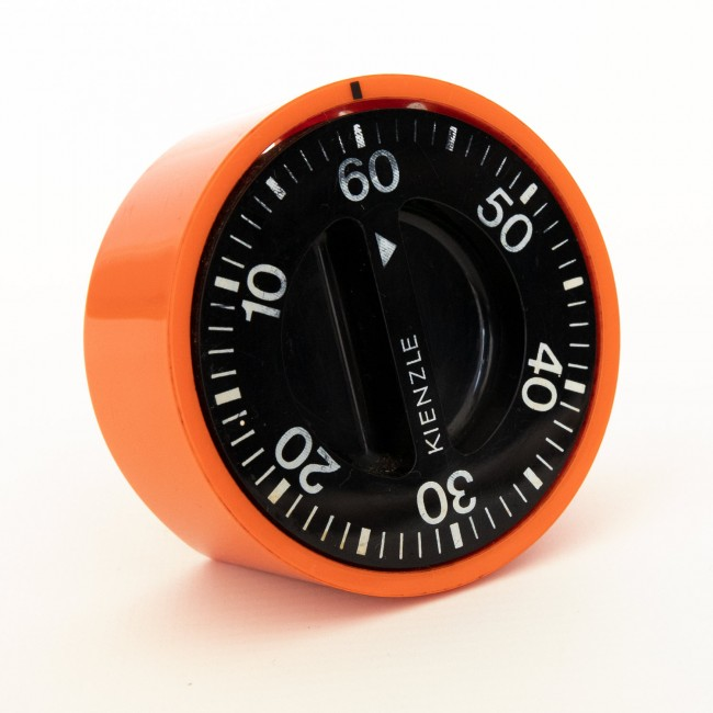 Kienzle vintage kitchen timer retro bright orange 1960s/70s