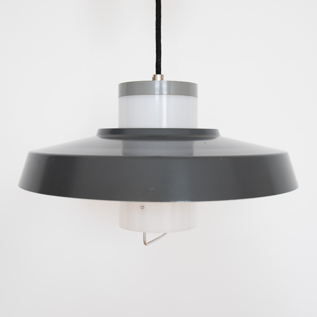 Danish 1950s midcentury modern pendant light by Bent Karlby for Lyfa