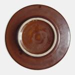 1960s pottery dish with Scandinavian birds motif