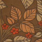 Swedish midcentury modern autumn leaves vintage cotton canvas 1970s
