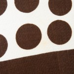 Irish Linen Mills brown polka dots tea towel 1970s