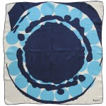 Vintage headscarf with midcentury modern artwork, 1950s/60s