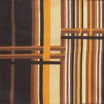 Vintage scarf with stripes design in classic 1970s colours