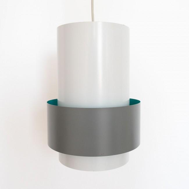 Central industrial pendant light by Jo Hammerborg for Fog & Mørup, 1967