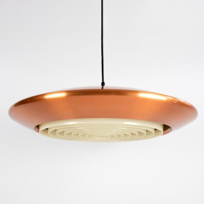 Copper Diskos pendant light by Jo Hammerborg for Fog & Mørup, 1960s