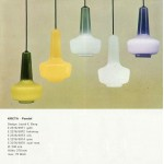 Kreta cased glass pendant lamp by Jacob E Bang for Fog & Mørup, 1960s