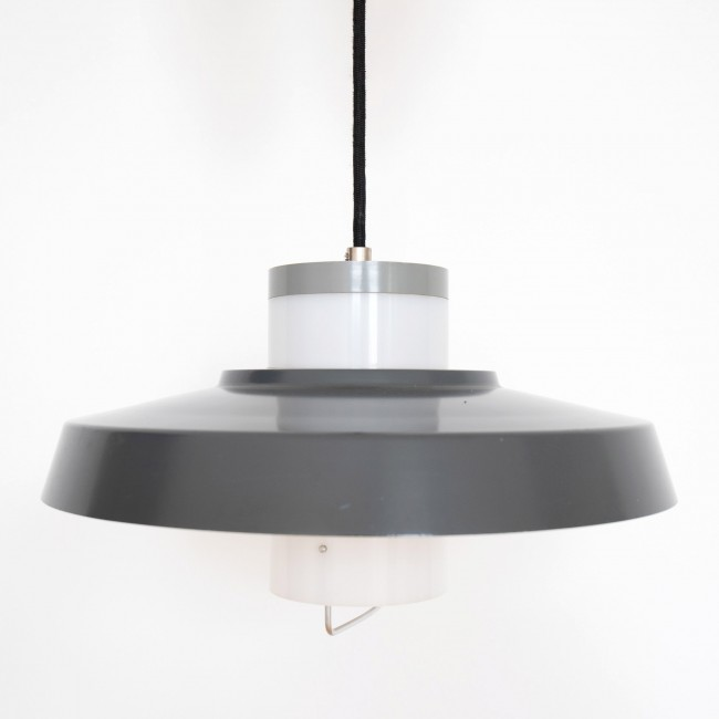 Danish 1950s midcentury modern P528 pendant light by Bent Karlby for Lyfa