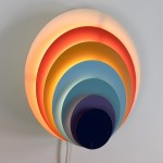 Påfugl (Peacock) art light for the wall designed by Bent Karlby for Lyfa, 1970s