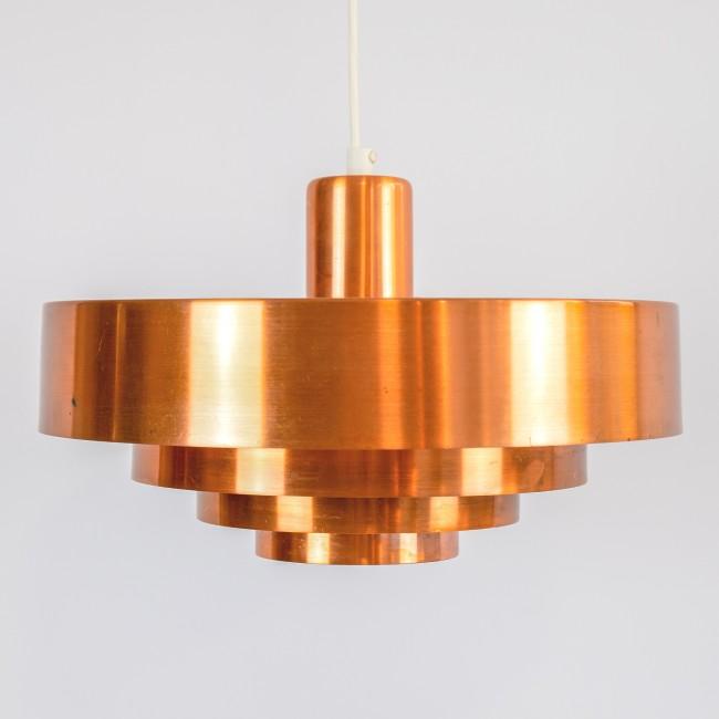 Roulet copper pendant light by Jo Hammerborg for Fog & Morup, late 50s