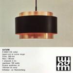 Saturn pendant light by Jo Hammerborg for Fog & Morup, 1960s