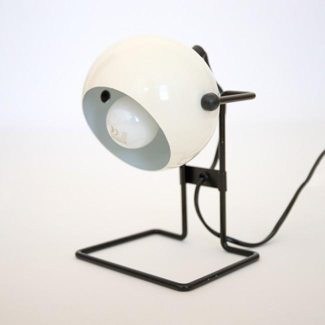 White 1970s Abo Randers Stat Danish ball lamp