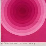 Verner Panton signed Mira-X Spectrum circles fabric in vivid pinks 1970s