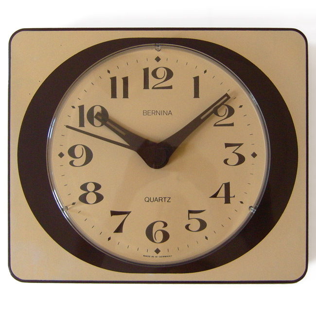 Vintage 1960s wall clock by Bernina of Germany