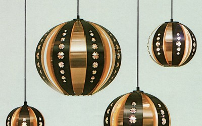 1960s prism lights by Werner Schou for Coronell
