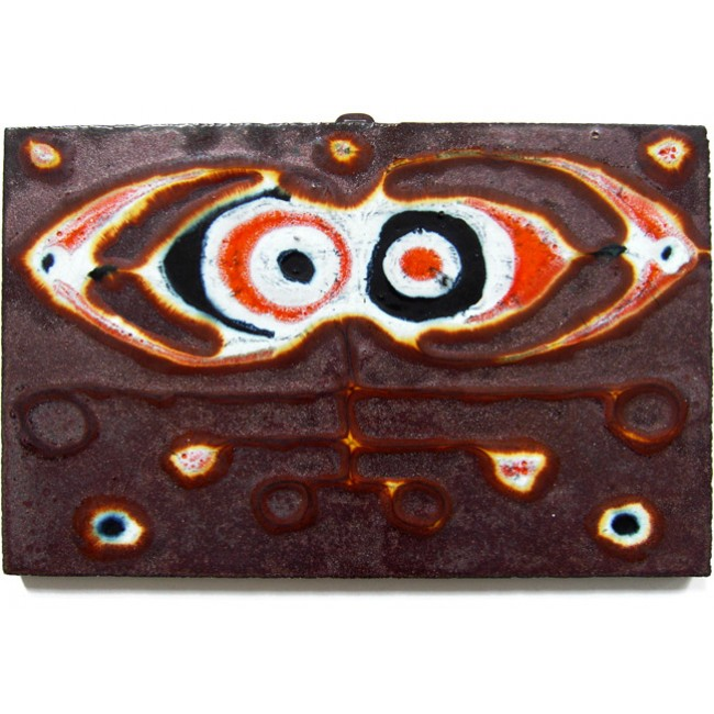 Ruscha COBRA-style enamelled ceramic wall tile