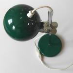 Green eyeball table lamp vintage Danish 1970s
