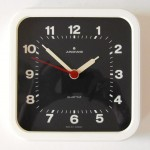 Junghans of West Germany white plastic wall clock