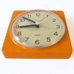 Orange Krups of Germany wall clock vintage 1970s