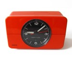 Orange Krups alarm clock vintage 1970s plastic
