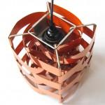 Mars copper 1970s pendant light by sculptor Max Sauze