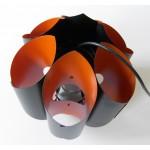 Matte black and deep orange Danish art light