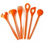 Orange vintage Rosti kitchen utensils 60s/70s
