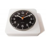 White plastic Alfa wall clock made in Germany