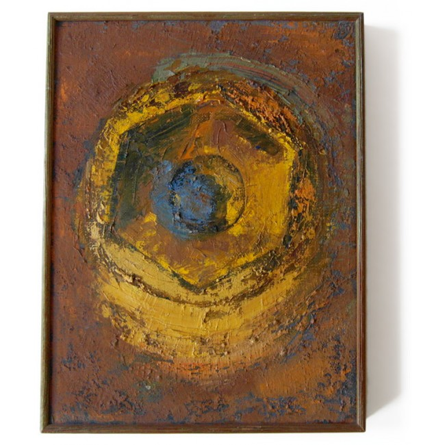 Vintage vortex oil painting by an unknown artist