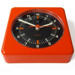 1960 s/1970 s orange Philips wall clock