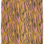 Slinky unused vintage pink and yellow zebra fabric