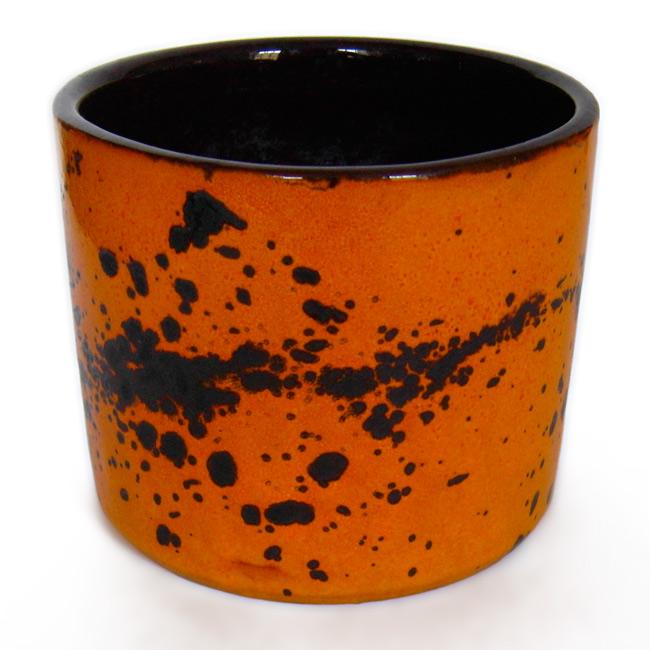 Vintage 1960 s/70 s orange ceramic planter