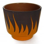 Flame design ceramic planter made in Germany