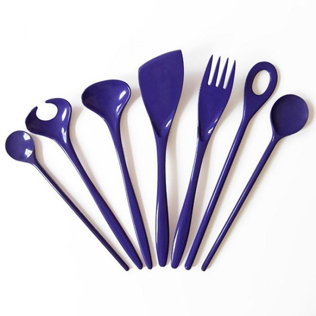 Purple vintage Rosti kitchen utensils 60s/70s
