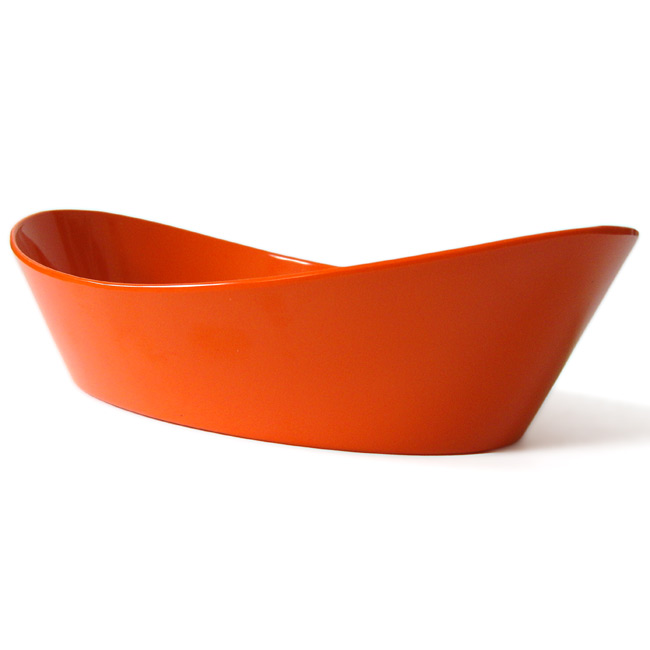 Vintage Rosti orange melamine bread or fruit bowl