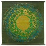 Vintage Danish Södahl sunburst textile artwork
